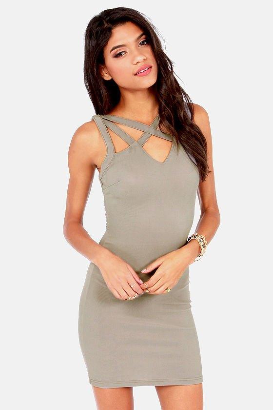 15 Low-Key Sexy Grey Bodycon Dress Outfit Ideas - FMag.c