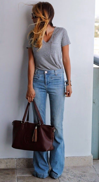 T-shirt/Jeans with low rise | Fashi