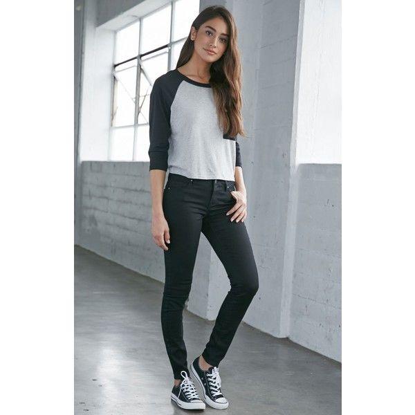 Bullhead Denim Co. Starry Black Mid Rise Skinniest Jeans ($50 .
