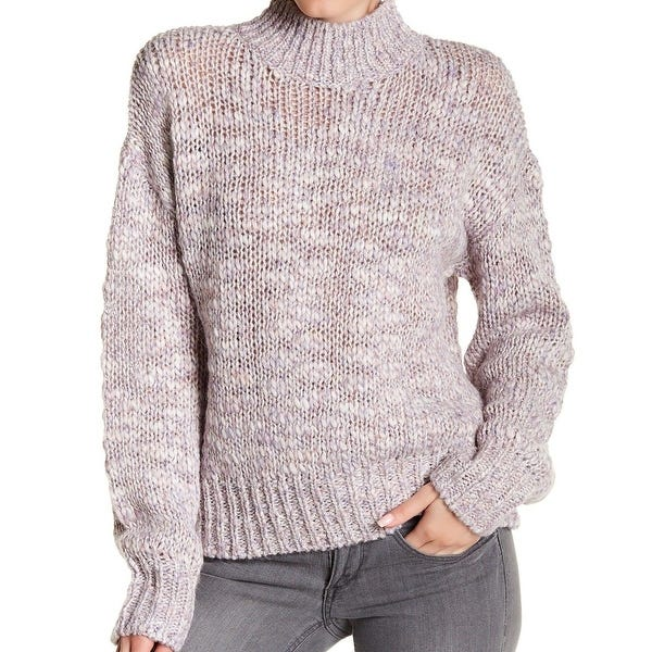 Shop Melrose and Market Women's Mock Neck Marled Knit Sweater .