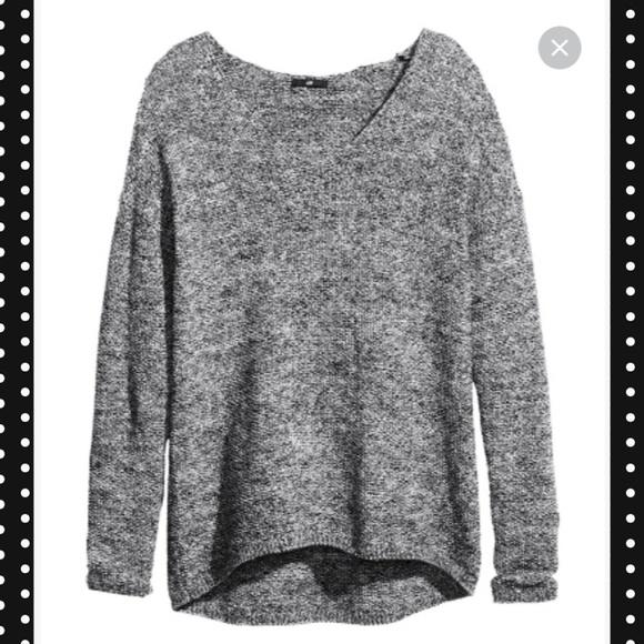 H&M Sweaters | Black Marled Knit Sweater | Poshma