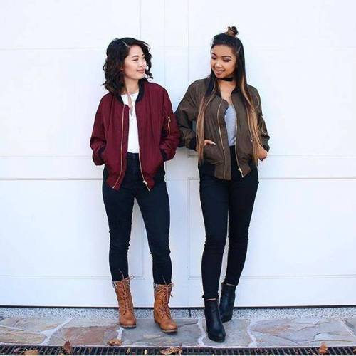 maroon and green bomber jackets – Just Trendy Gir