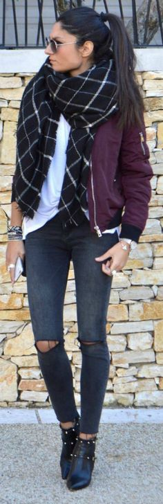 16 Best burgundy bomber jacket images | Burgundy bomber jacket .