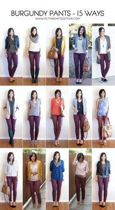 25 Best Burgundy jeans outfit images | Burgundy jeans, Burgundy .
