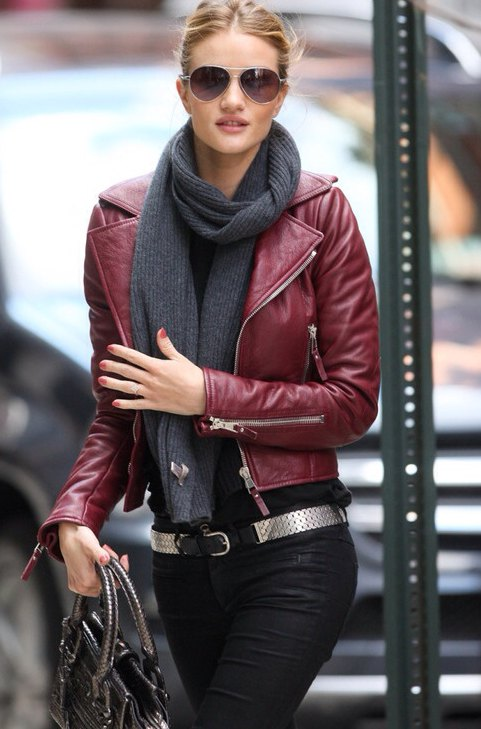 How to Wear Burgundy Leather Jacket: 15 Best Outfit Ideas for .