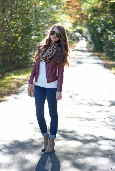 How to Style Maroon Leather Jacket: Best 13 Deeply Beautiful .