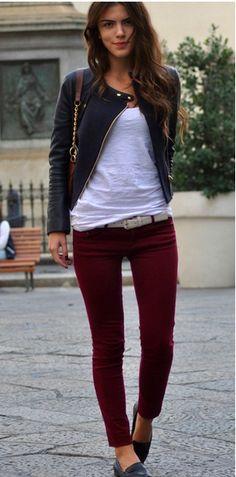 28 Best Burgundy pants outfit images | Burgundy pants, Autumn .