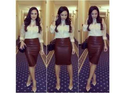 Burgundy Leather Skirt Outfit Ideas - YouTu
