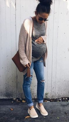 Again with the cozy cardigan. Love them! Plus the tennis shoes .