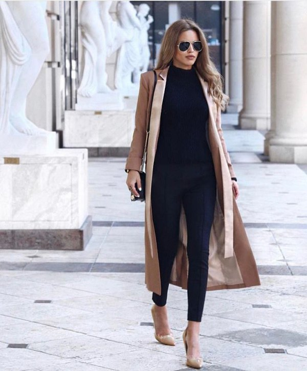 How to Wear Maxi Coat: 15 Awesome Outfit Ideas for Ladies - FMag.c