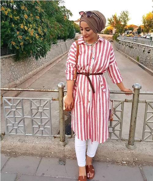 How to wear shirt dress with hijab | | Just Trendy Gir