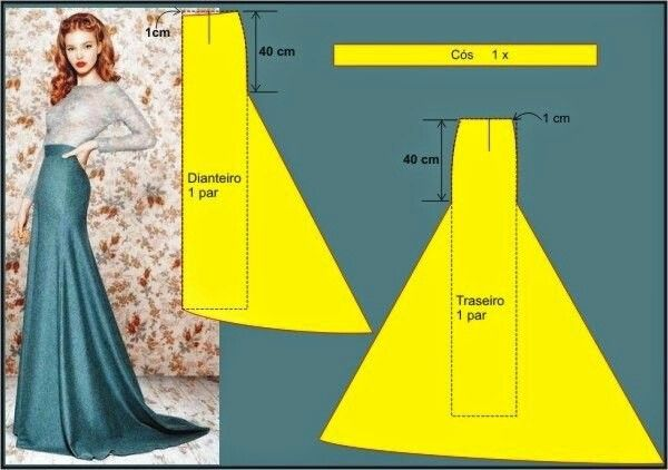 trumpet/mermaid skirt pattern | Mermaid skirt pattern, Dress .