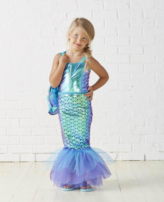 Kids Mermaid Costume | DIY kids Halloween Costume | Mermaid .