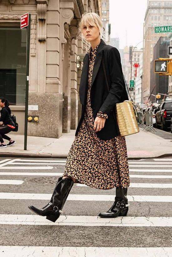 Chic Ways To Wear The Cowboy Boots Trend   Fashion 2018 trends .
