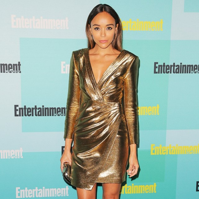 Latest Metallic Dress Fashion Celebrity Outfit Trend 2016 Fashion .