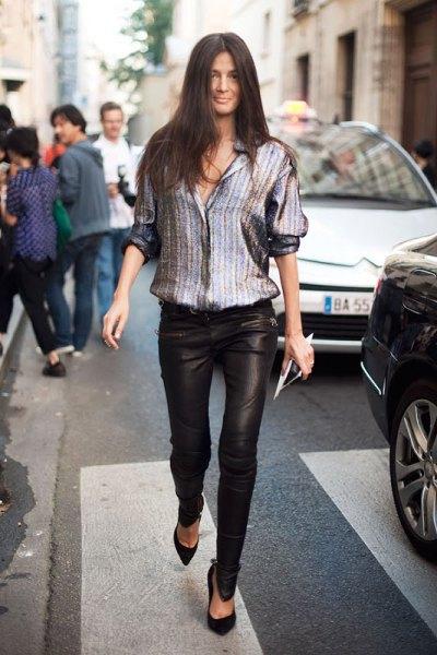 How to Wear Metallic Shirt: 15 Shiny & Eye Catching Outfit Ideas .