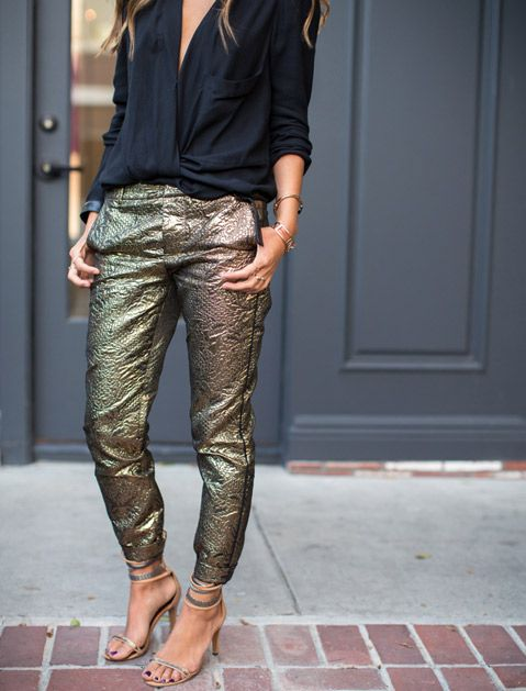 Here's How to Wear Pants to a Party | Fashion, Holiday fashion .