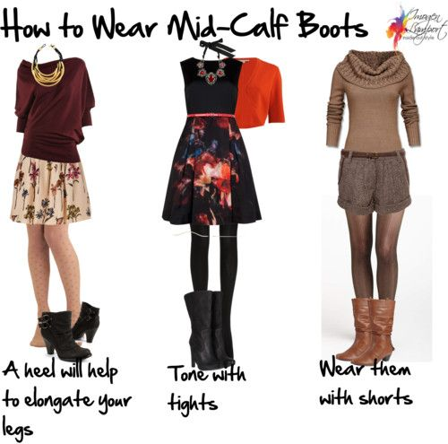 How to Wear Mid-Calf Boots | Fashion, Casual outfits, Cloth