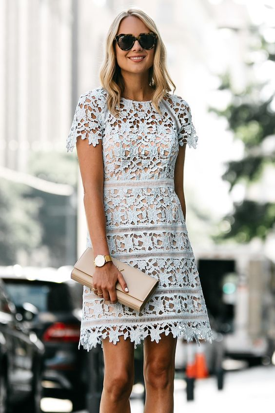 60+ Romantic Lace Mini Midi Dress Ideas 61 | Lace wedding guest .