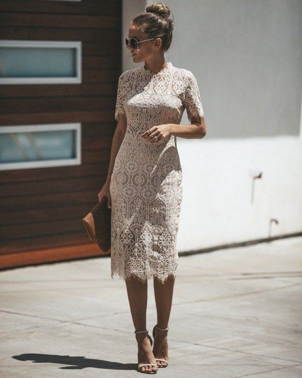 46 Lovely Lace Dress Outfit Ideas for Women | Lace dress outfit .
