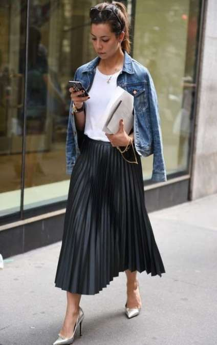 Best skirt black pleated outfit ideas #skirt (With images .