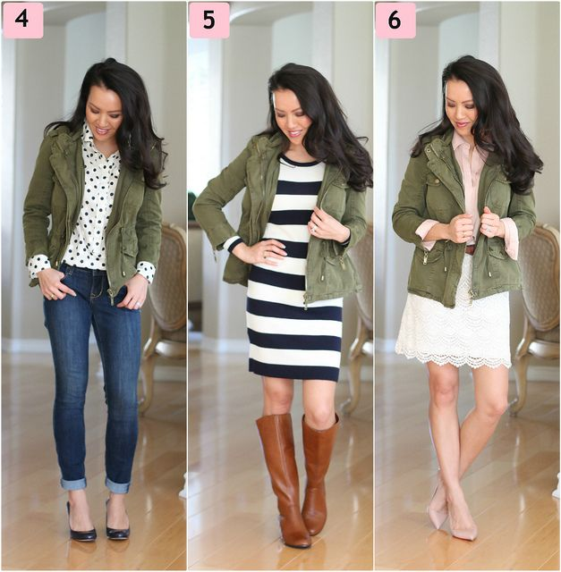 Olive, Leopard and Stripes Plus Ways to Wear a Utility Jacket .
