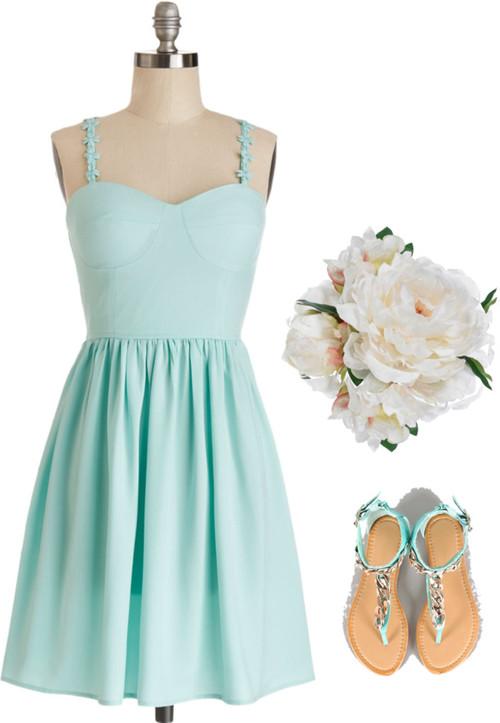Cool Mint Bridesmaid Dresses-Inspiration-Ide