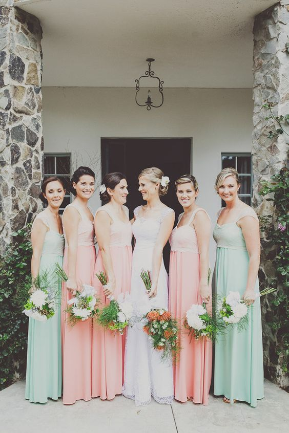 45 Peach & Mint Spring Summer Wedding Color Ideas | Peach .