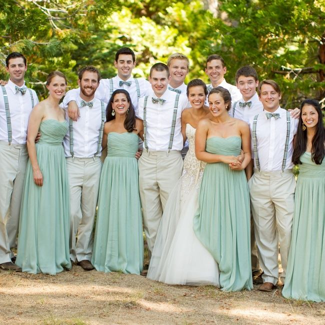 60+ Beach Bridesmaid Dresses Ideas | Bridal party attire, Mint .