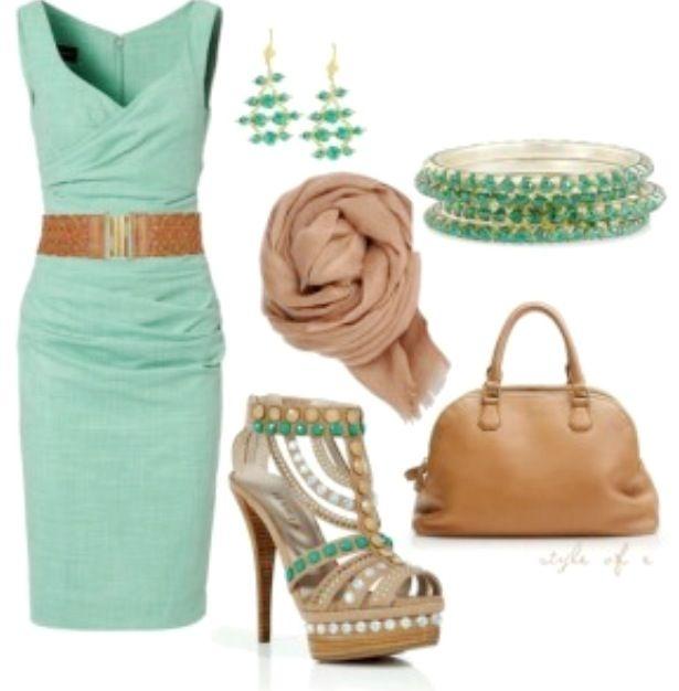 Mint dress outfit idea | Fashion, Style, Fashionis