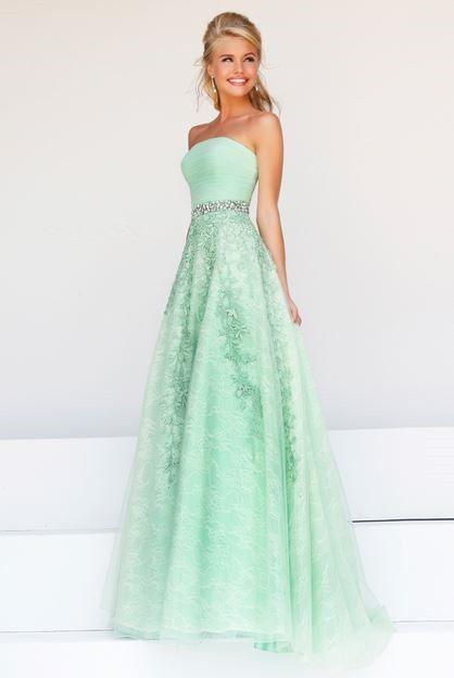 plus size bridesmaid dresses mint green | ... Cute A Line .