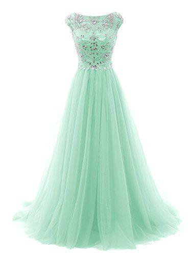 Pin by Sabin Lama on Quinceanera dresses | Mint green prom dress .
