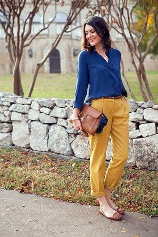 42 Popular Mustard Pants Outfit Ideas For Beautiful Women Like You .
