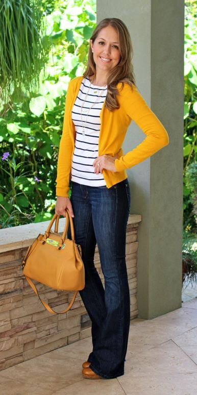 13 Perfect Casual Work Outfit Ideas | Como usar cardigan, Pano .