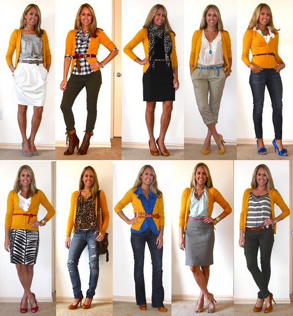 almost 2 weeks worth of new outfit inspiration... | Yellow .