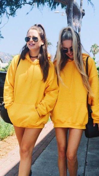 Oversized Yellow Hoodie - Shop for Oversized Yellow Hoodie on .