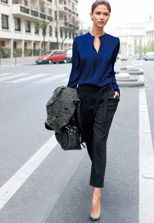 How to Look Slimmer Instantly   Outfit, Business outfit frau .