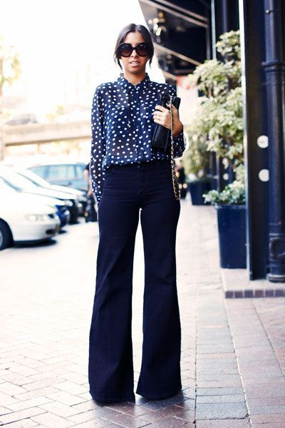 Minju Kim for H&M - | Blue pants outfit, Blue blouse outfit, Navy .