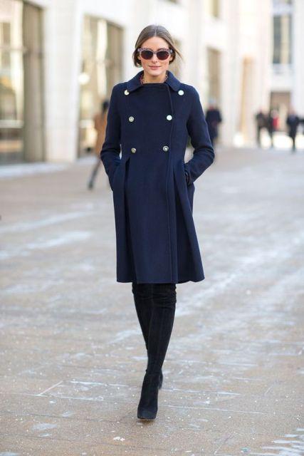 21 Fabulous Navy Blue Coat Ideas To Try - Styleohol