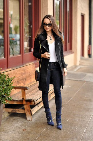 How to Style Navy Blue Boots: Best 15 Beautiful & Deep Outfit .
