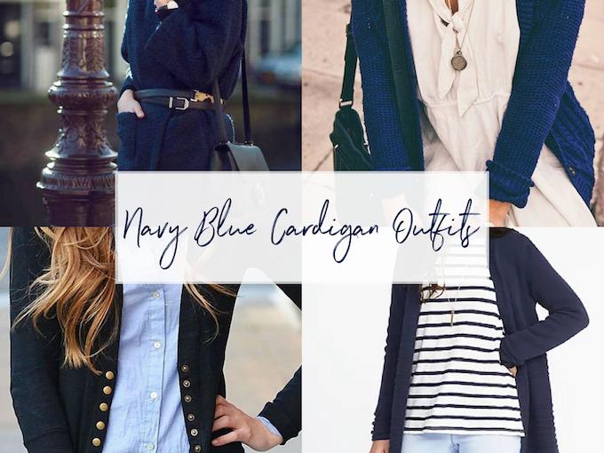Navy Blue Cardigan Outfi