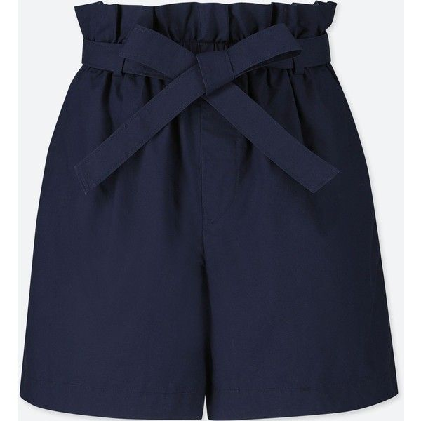 UNIQLO Women's Belted Shorts (99 BRL) ❤ liked on Polyvore .