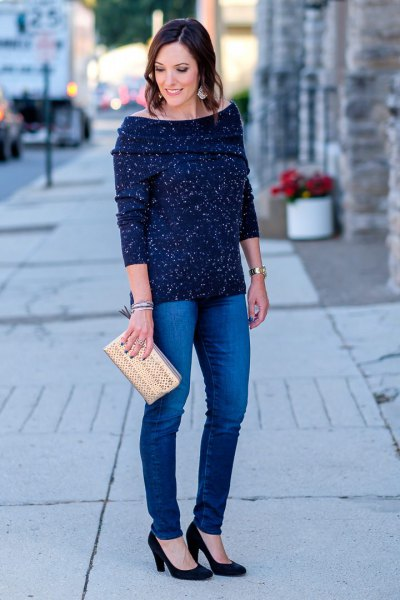 How to Wear Navy Blue Sweater: 13 Best Outfit Ideas for Ladies .