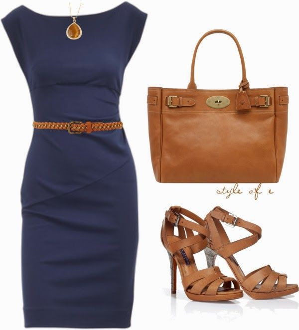 15 ways to wear a navy dress outfit and what accessories to choose .