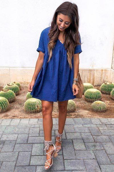 Cute Navy Dress Jeffrey Campbell Sandals | 25 Perfect Summer .