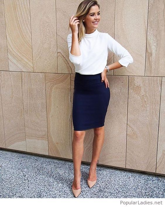 Image result for shoes for a navy dress | Work wear women, Work .