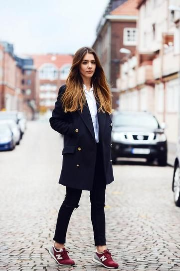 25 Perfect Ways to Style a Navy Blue Coat (con imágenes) | Moda .