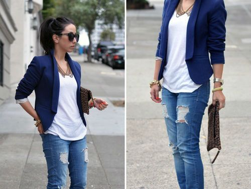 46 Trendy Ideas for Combining Blazer with Jeans | How to wear .