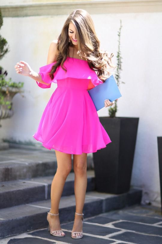 How to Wear Neon Pink Dress: 14 Top Outfit Ideas - FMag.c