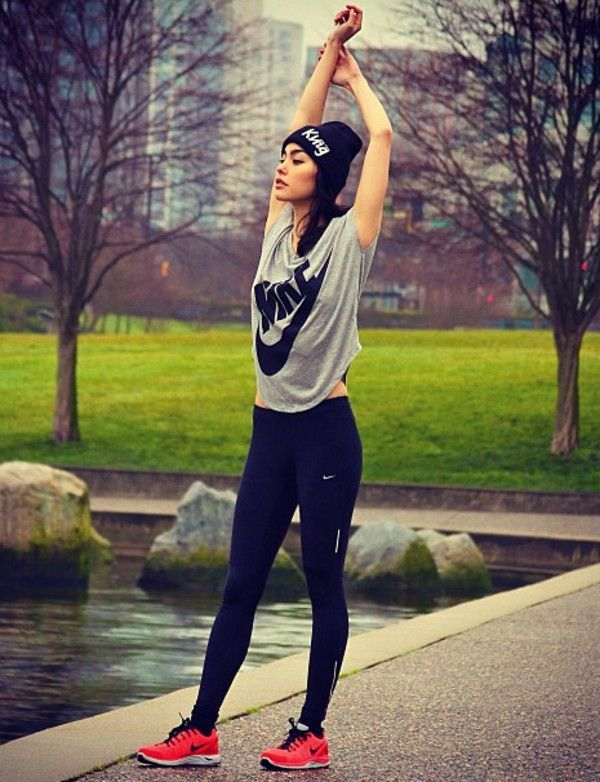 Winter Workout Outfits-15 Cute Winter Gym Outfits for Women .